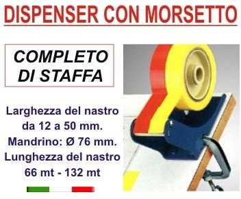 dispenser da banco con morsetto
